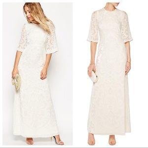 Needle & Thread Fleur Devore Velvet Maxi Dress